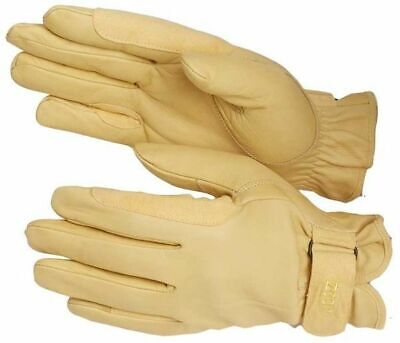 Riding Gloves Jodz Leather Deluxe Work soft tough training horse Dogs Garden