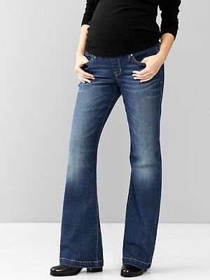 9b3009ff6 GAP MATERNITY 1969 Demi Panel Long and Lean Jeans 26,27,28,29,30,31 ...