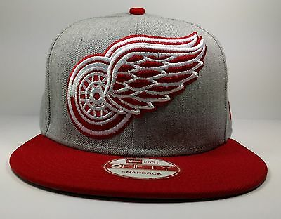 separation shoes 41a5c 64c01 Detroit Red Wings New Era 9Fifty Grand XL 2 Tone Gray Snapback Hat Cap NHL