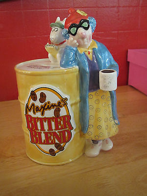 "Maxine's Bitter Blend Ceramic Bank 8"" Figure Coin Coffee Can Grumpy Humor AM"
