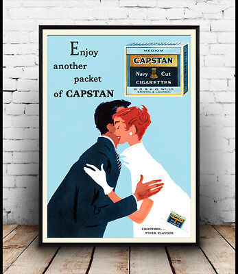 Enjoy another packet of Capstan Old Cigarette advertising poster reproduction.