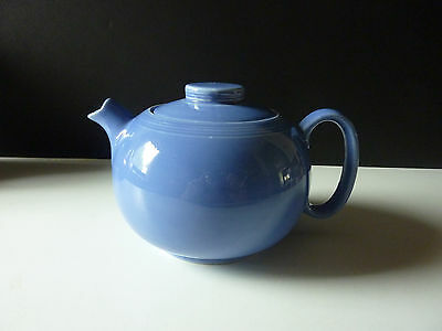 W.S. George Solid Blue Teapot from 1938,  Art Deco Design