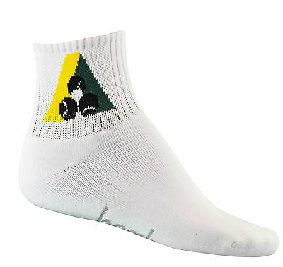 Lawn Bowls Sock Bamboo Fibre Short Ankle With BA Logo - Bowls Australia Approved