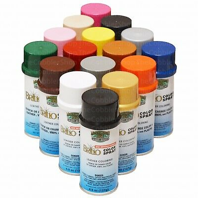 Meltonian Nu-Life & BRILLO Color Spray Leather Vinyl Paint/Dye 4.5 oz-All Colors