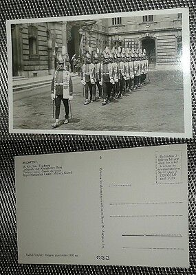 post WWI Hungary Magyar Royal castle honour elite guard photo postcard RPPC