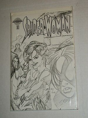 Marvel Authentix SPIDER-WOMAN #1 Remarked Bart Sears Sketch Variant  NM