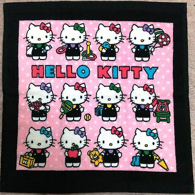 HTF Rare Sanrio Hello Kitty Cute Pink Face Hand Cotton Towel Japan Limited New
