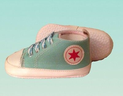 New Baby Boy Blue Shoes Infant Newborn Size Small 0-3 Month Canvas Shoes Jewish