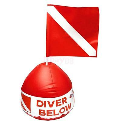 Inflatable Float and Dive Flag for Scuba