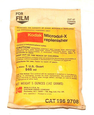 Kodak Microdol-X Replenisher to make 1 U.S. Quart - Unopened Darkroom