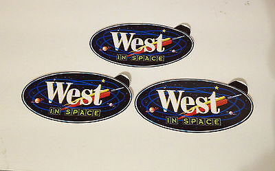 West In Space Tabak Sticker Aufkleber 3er Set St. selten rar Reklame