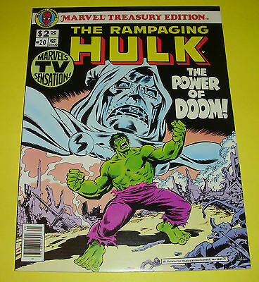 Marvel Treasury Edition #20 - Nm+ (9.6) Rampaging Hulk *Very Rare In High Grade*