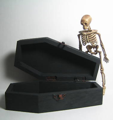 Dollhouse Miniature Coffin - Your Choice of  Black, Red or Purple Interior