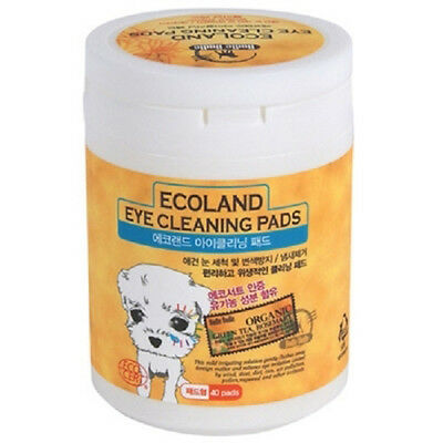 Ecoland Pet Dog & Cat Eye Cleaning Pads Tissue Tear Stain Remover 40 Pads