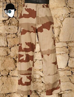 "Military Surplus Camouflaged Combat Trousers - Size 84L - W 33"" - (Q)"