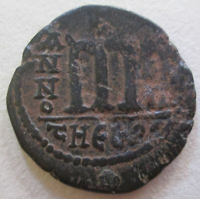 Ancient Byzantine Bronze Coin Archaeology