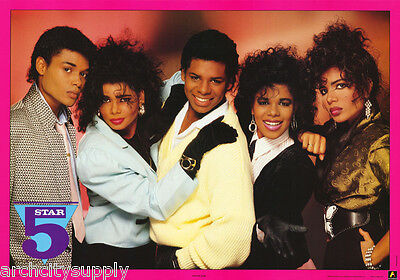 Poster :music: R & B : Five Star - All 5 Posed - Free Ship! #aa258 Rp76 Q