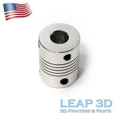 Flexible Shaft Coupler 5mm To 8mm for CNc Routers Reprap  Prusa 3D printers