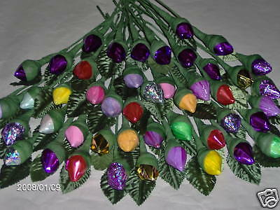 26 ANY DAY/ WEDDING FAVORS HERSHEY KISS CHOCOLATE ROSES AT A GREAT LOW PRICE