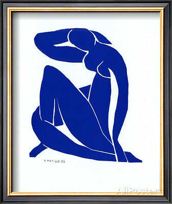 Blue Nude II Framed Art Print By Henri Matisse - 11x13