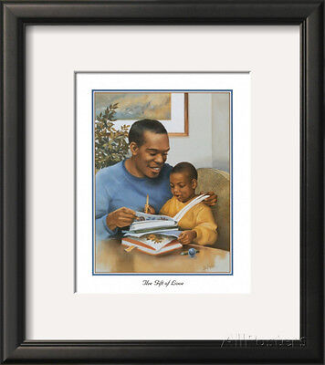 Father's Gift of Love Framed Art Poster Print by Lopez, 14x16