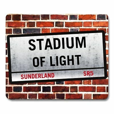 SUNDERLAND FC STADIUM of LIGHT theme Street Sign MOUSEMAT PERSONALISED mouse mat