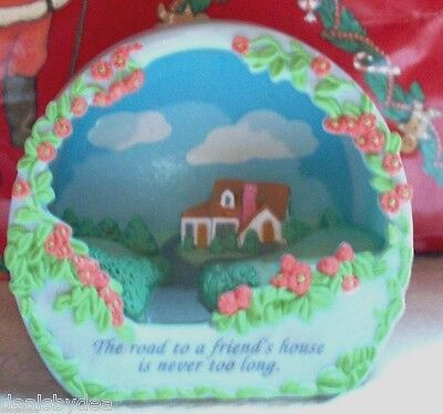 Avon Shadow Box Sentiments Road To A  Friends House Is Never Too Long   no box