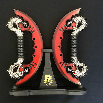 Double Dragon Fantasy Knife w/Stand
