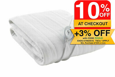 Washable Electric Blanket fitted Double Size/3 Heat/Heater for mattress/Bed