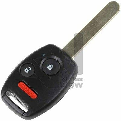 New Uncut Replacement Remote Head Key Keyless Entry Fob Transmitter Blade - 3BTN
