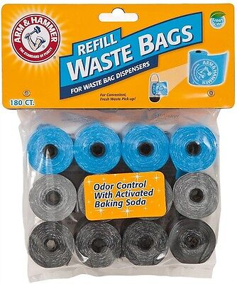 Arm & Hammer Disposable Waste Bag Refills Assorted 180ct New Sealed