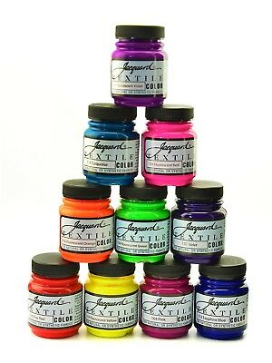 Jacquard Professional Textile Paints - Natural or Synthetic Fabrics - 40 Colors