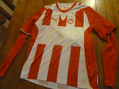 mens OLYMPIACOS long sleeved shirt - size L great condition