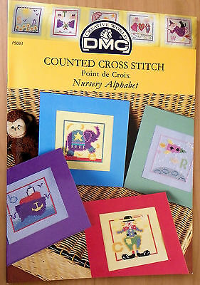 DMC Cross stitch pattern book Nursery Alphabet