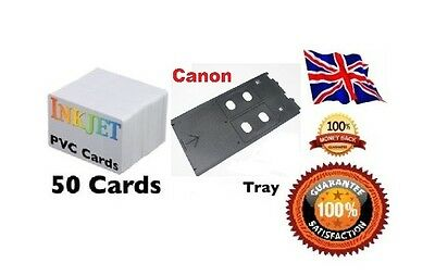 Inkjet PVC ID Card Starter for Canon PVC 50 Cards & Card Tray