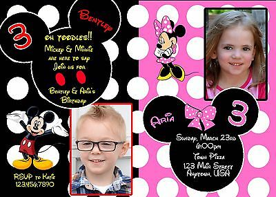 Mickey Mouse Birthday Invitation Minnie Mouse Birthday Invitation – Minnie Mouse Birthday Invitation