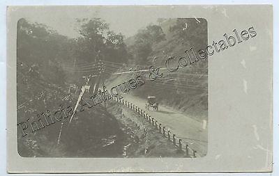 C1910 Rp Npu Postcard Buggy On Gorge Road Adelaide Hills South Australia G38