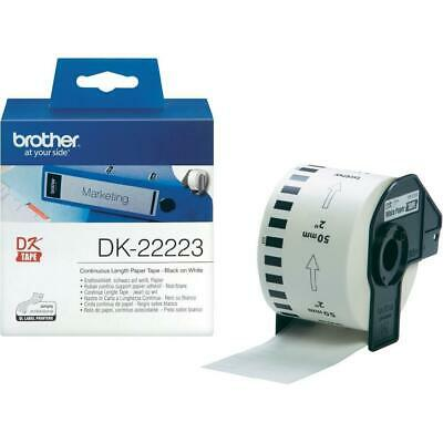 Brother DK Labels DK-22223 (50mm x 30.5m) Continuous Paper Tape (Black On White)