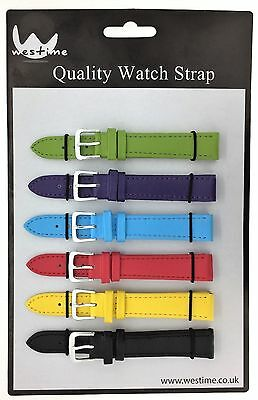 6 x Wholesale Job Lot Regular Mixed Colour Leather watch straps 6mm to 24mm