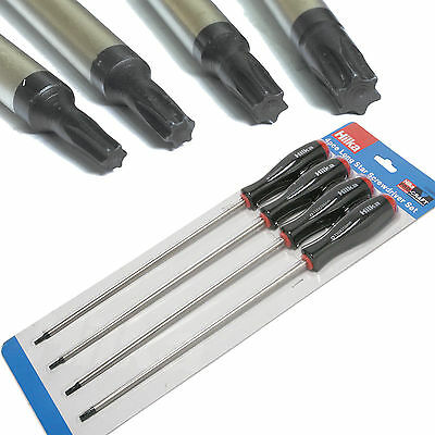 "4pc Long Torx Star Screwdriver Set T15 T20 T25 T30 Torx Screwdrivers 250mm(10"")"