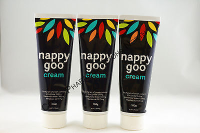 3 x Nappy Goo Cream 300g Value Pack Royal Children's Hospital Melbourne Nappygoo
