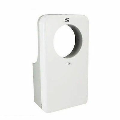 Wall Mounted Three Sided Brushed White Jet Hand Dryer Commercial Grade Bathroom