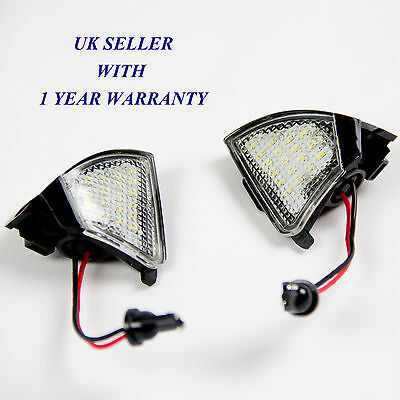 Vw Golf Mk5 R32 Under Mirror Puddle LED Light White - ERROR FREE, CANBUS