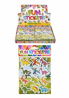 120  Sheets Of Dinosaur  Stickers For Party Bags - Lucky Dips