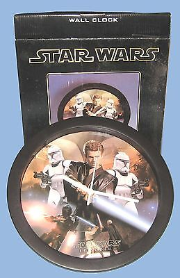 Star Wars - Episode Ii - Wall Clock - Battery Op. - Boxed - 2002 - Works Fine
