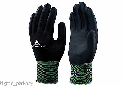 Delta Plus Venitex VV702NO Hestia Black Polyamide Knitted Safety Work Gloves PPE