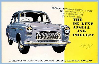 Vintage - The De Luxe Anglia And Prefect Auto Sales Brochure - Ford Motor Co.