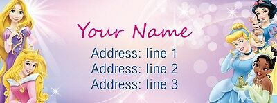 30 Personalized Return Address Labels Princess Pink Laser Printed Stickers