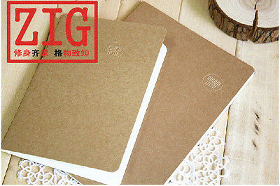 Kraft Cover Notebook ruled/blank 100gsm white paper Sewing bound 28/38 Sheets
