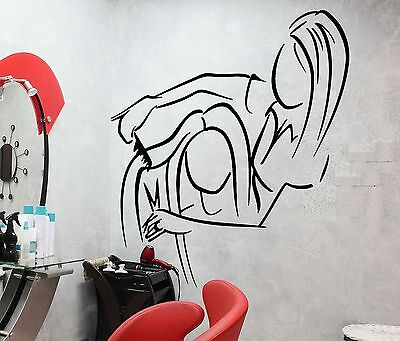 Wall Decal Barber Shop Barbershop Hair Salon Beauty Hairstyle Stickers (ig2596)